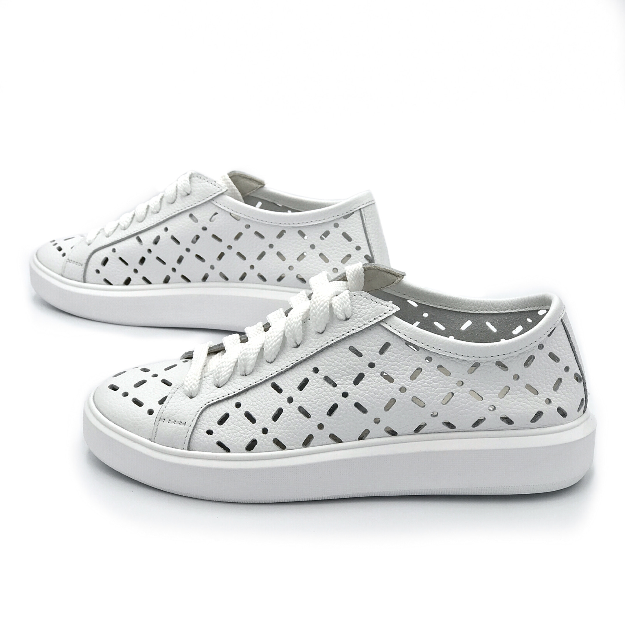 Perforated converse sneakers white 258